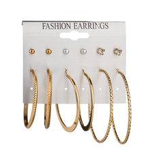 Charmsmic Big Circle Hoop Earrings For Women Lady Exaggerated Jewelry Gold Silver Hoop Earrings Simple Design Earring Sets(China)