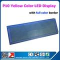 49 * 113 см желтый цвет реклама из светодиодов табло P10 320 * 160 мм из светодиодов жк-модули 1/4 сканирования желтый цвет из светодиодов доска
