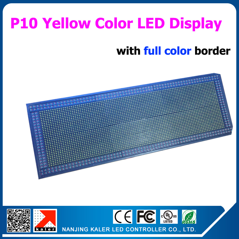 49*113 cm outdoor yellow color advertising led display board P10 320*160mm led modules 1/4 scan yellow color led board49*113 cm outdoor yellow color advertising led display board P10 320*160mm led modules 1/4 scan yellow color led board