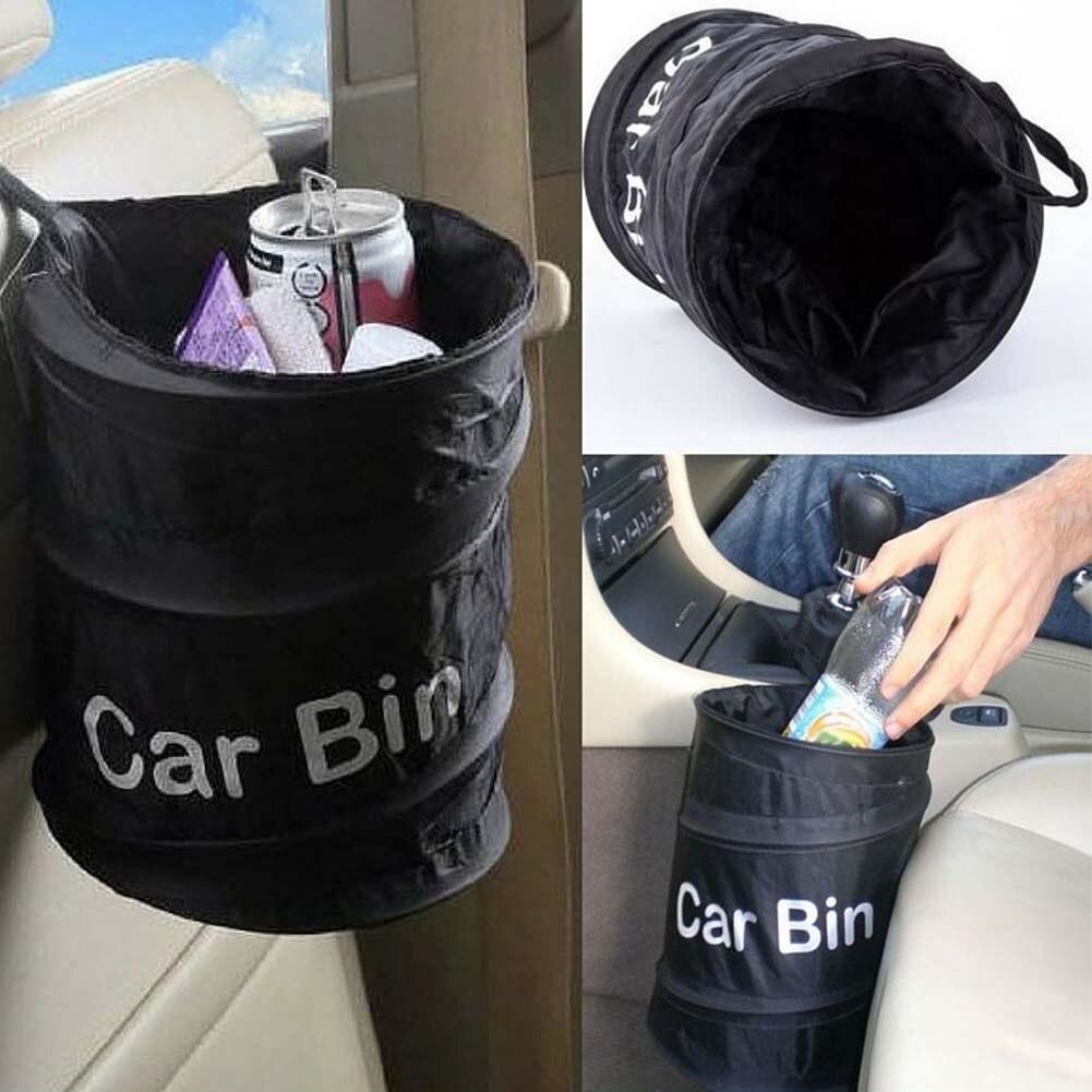 Foldable Bin Car Trash Garbage Rubbish Hanging Collapsible Waste Basket Bag