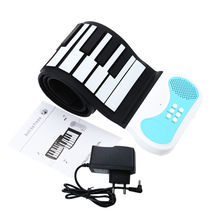 Flexible 49 keys Roll-up Piano Portable Silicon Soft Keyboard Piano Educational Instrument for Kids