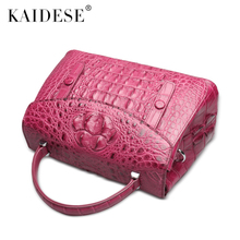 kaidese The new crocodile handbag leather shoulder bag handbag female crocodile bag