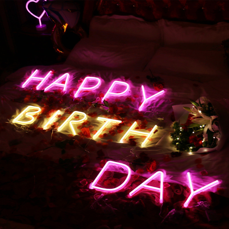 Led Neon Sign Neon Light Holiday Xmas Party Wedding Decor Night Lamp Bar Home Wall Decor 26 Letters Numerals  Light Up Signs|Neon Bulbs & Tubes|   - AliExpress