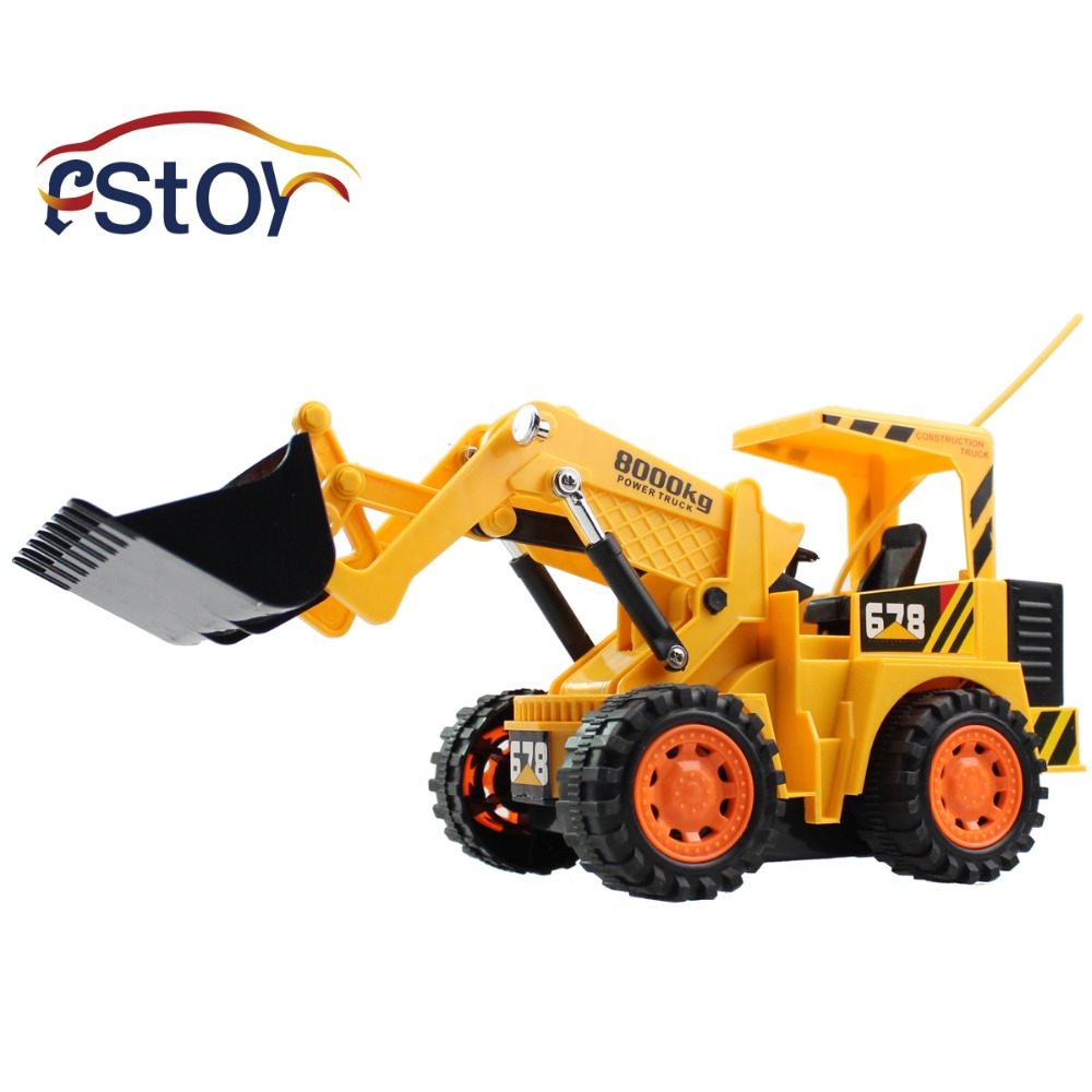 Remote Control Construction Toys : Rc bulldozers wireless channel full functional front