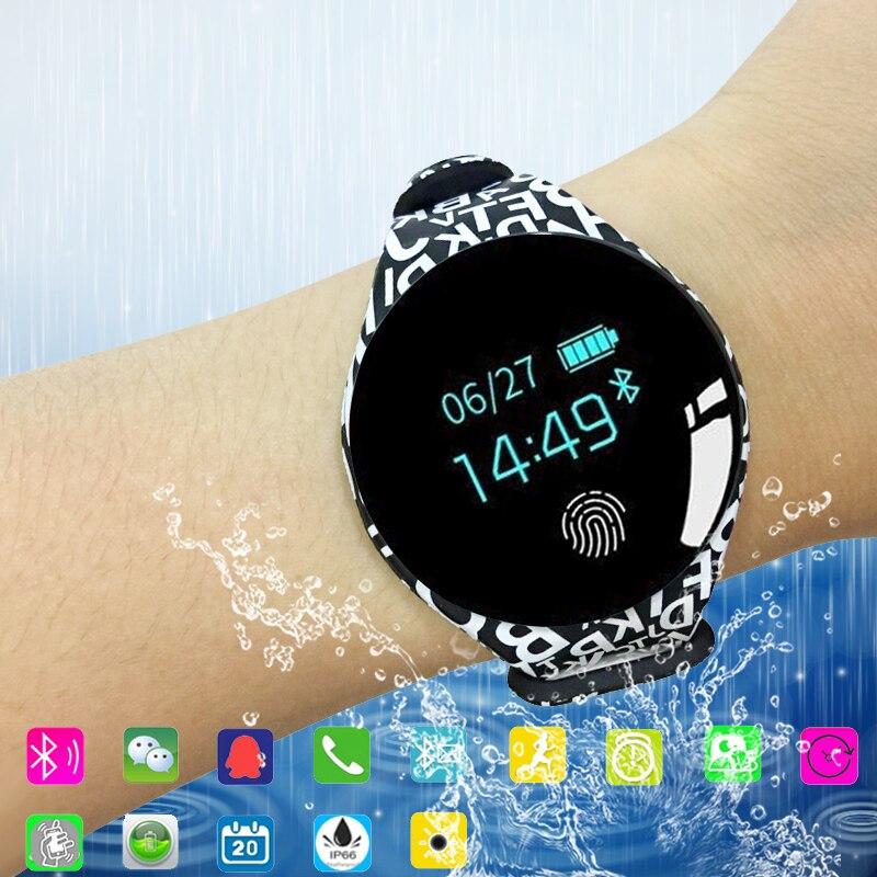 Bluetooth Smart Uhr Mens Frauen Wasserdichte Armband Band Fitness Tracker Armband Schrittzähler Sport Smartwatch Für Ios Android