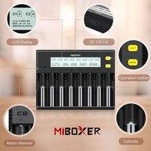 Зарядное устройство 18650 Miboxer 8 слотов 4 слота ЖК-дисплей 1.5A для Li-Ion LiFePO4 Ni-MH Ni-Cd AA 21700 20700 26650 18350 17670