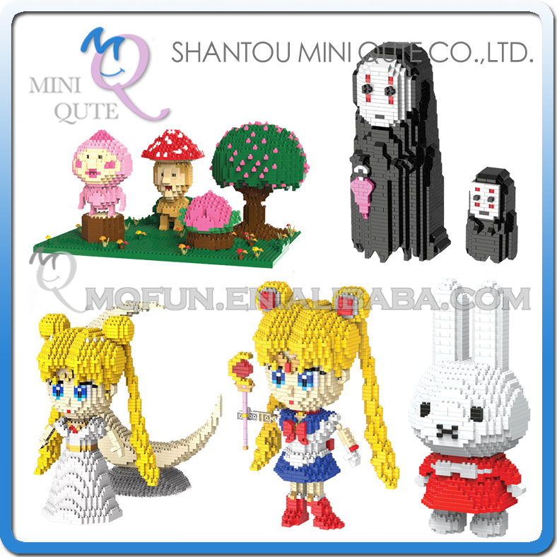 Mini Qute HC Huge anime cartoon Sailor Moon No Face Melody plastic building block model action figures education educational toy mini qute full set 2 pcs lot hc zootopia huge nick wilde judy hopps plastic building block cartoon model educational toy no 9011