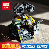 687Pcs 16003 New Lepin Idea Robot WALL E Building Set Kits Toys Educational Bricks Blocks Bringuedos