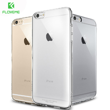 FLOVEME For iPhone 6 6S Plus Clear Case Fashion Crystal Hard Plastic Phone Cover For Apple