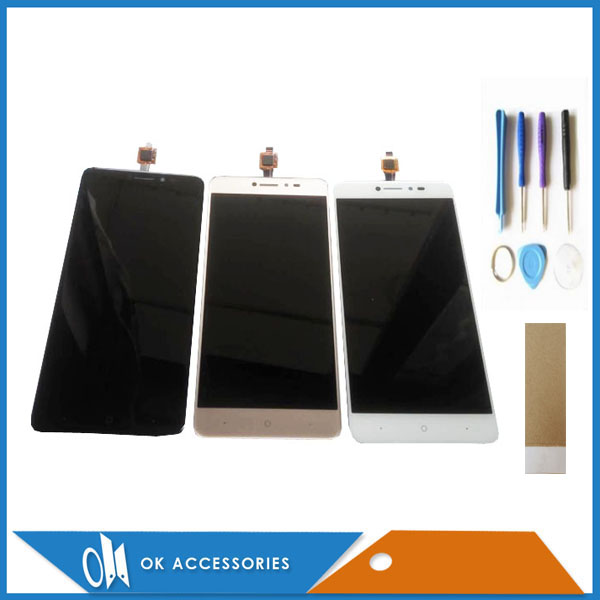 Black White Gold Color For BQ-5204 BQ 5204 Strike Selfie LCD Display+Touch Screen Digitizer Assembly With Tools Tape 1PC/Lot