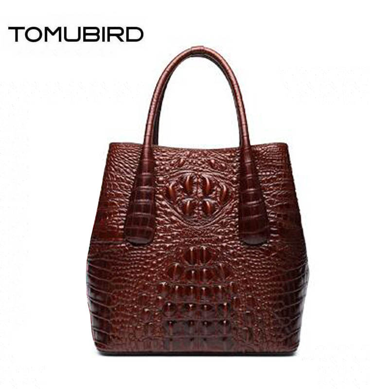 TOMUBIRD 2018 new fashion women genuine leather handbags superior cowhide leather Crocodile pattern famous brand women bag tomubird new quality cowhide material embossed crocodile tote famous brand women bag fashion genuine leather handbags