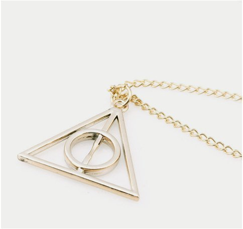 Movie Harr Potter Deathly Hallows Metal Gold Necklace Pendant As Gifts Hot ...