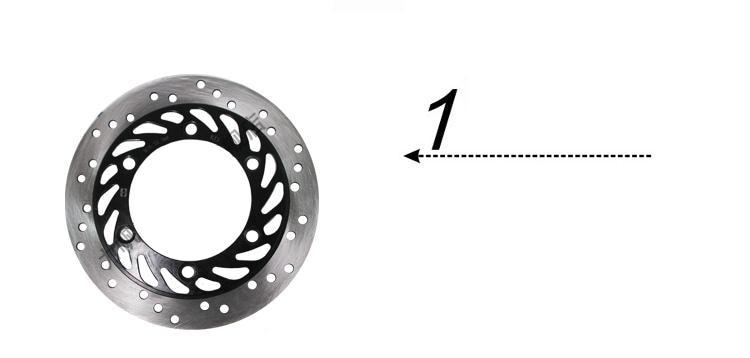 FRONT  DISC BRAKE FOR LF150-10B/KP150 PARTS NO. IS QJZ56311A0A00 LIFAN MOTORCYCLE BRAKE PAD/WHEEL запчасти для мотоциклов lifan 150 lf150 10b