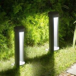 BEIAIDI 2 sztuk na zewnątrz ogród willi Post lampa na filarze wodoodporna lampa ogrodowa dziedziniec plac krajobraz ścieżka lampa trawnikowa