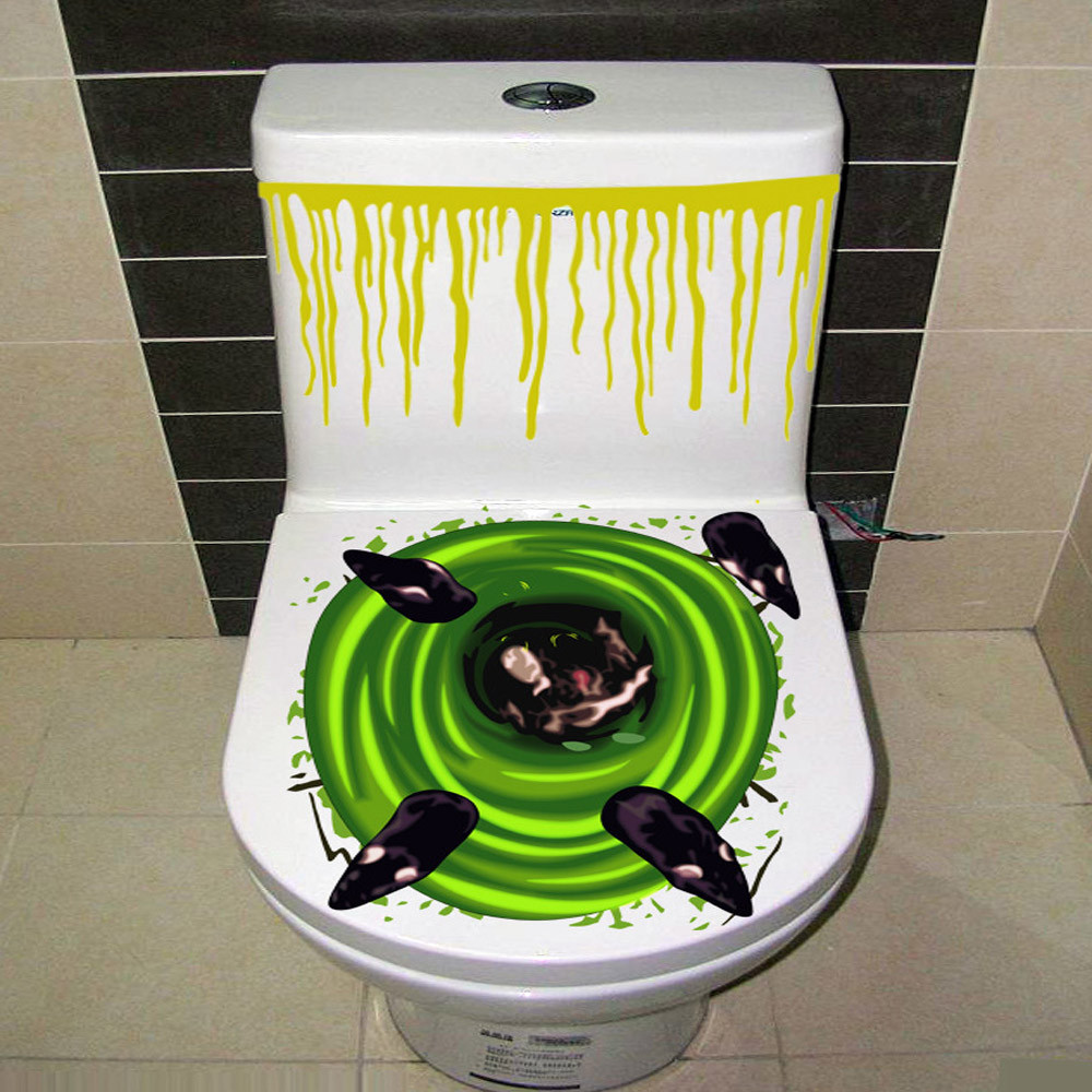 big discount ishowtienda new fashion halloween bloody hand toilet cover party decoration sticker