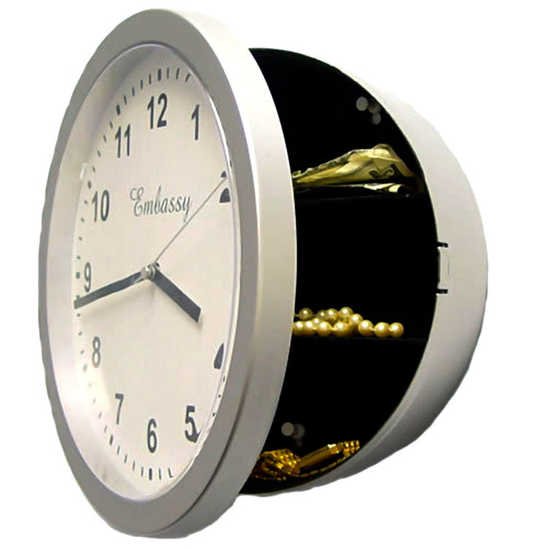 Creative Alarm Clock Safe Clock Jewelry Storage Box Invisible Storage Box Organizer for  ...