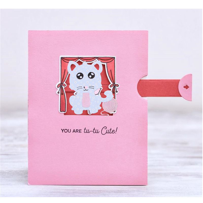 Cute Cartoon Animal Cat Metal Cutting Dies Stencils For DIY Scrapbooking Decorative Embossing Suit Paper Cards Die Cutting 2018
