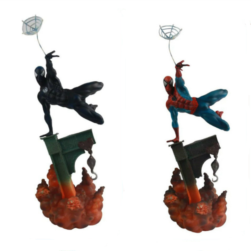 Marvel Sideshow Spiderman The Amazing Spider-man 2 Colors PVC Action Figure Collectible Model Doll Toy 29cm KT3662 sideshow spiderman the amazing spider man pvc figure collectible model toy 2 colors 29cm