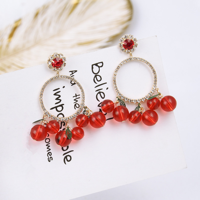 2c001e591ca Νέα κοσμήματα πολυτελείας λαμπερό Rhinestone στρογγυλό κύκλο αγάπη καρδιά  σκουλαρίκι ...