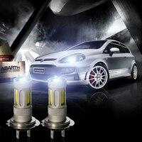80W High Bright White 2pcs Car COB Lens Fog Bulb Light H1 H3 H4 H7 H8