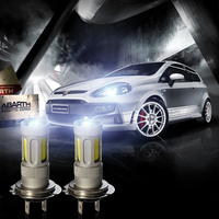 80W High Bright White 2pcs Car COB Lens Fog Bulb Light H1 H3 H4 H7 H8