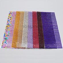 Strass auto-adhésif à dos plat de 6MM, 504 pièces, bâton sur diamant, gemmes scintillantes, bricolage artisanat décor pour sacs ordinateur téléphone portable