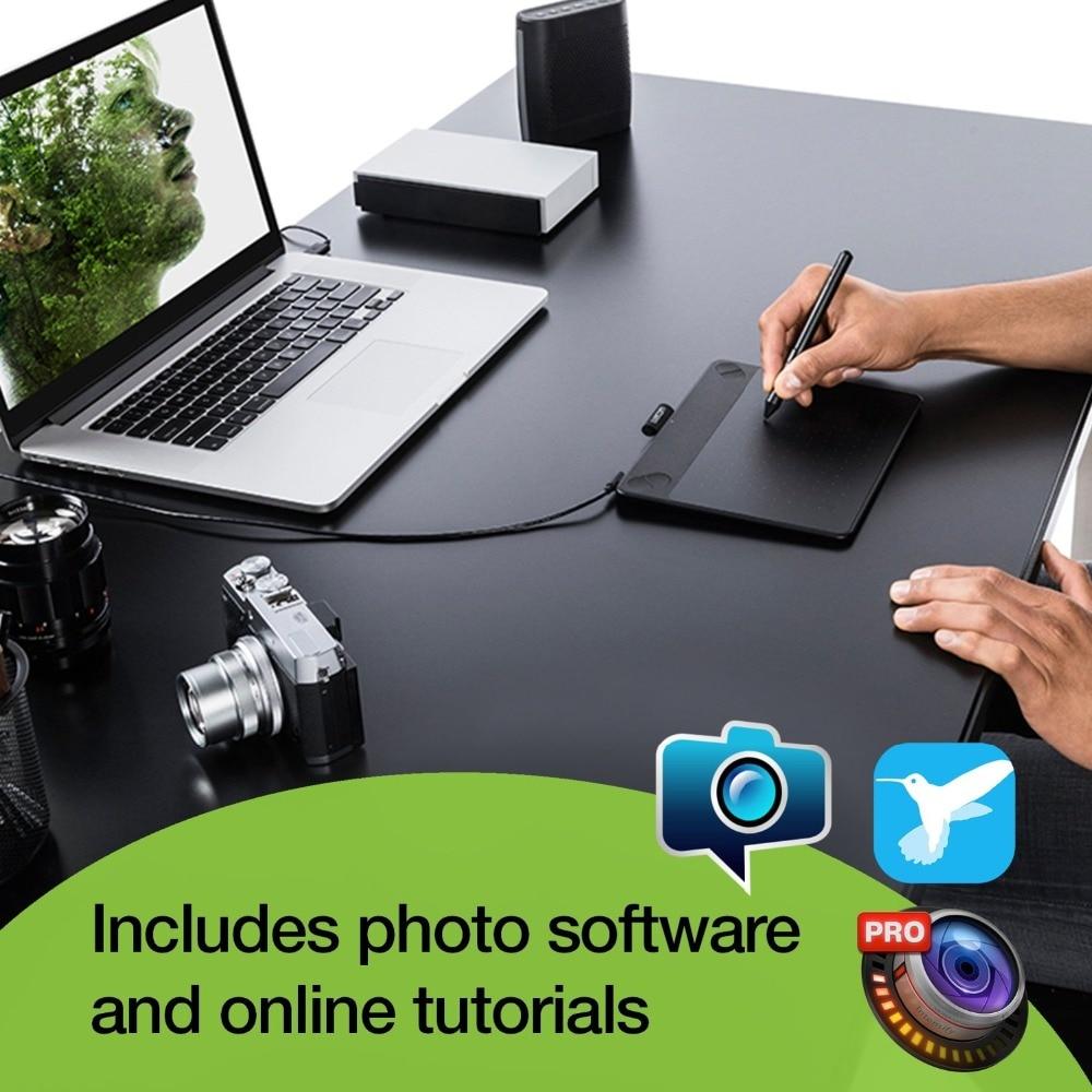 1 Jahr Garantie Wacom Intuos Cth-490 Pen & Touch Digitale Grafik, Zeichnung, Tablet 2048 Druck Ebenen Schwarz/blau Farben