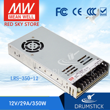 Smoothly MEAN WELL LRS 350 12 12V 29A meanwell LRS 350 348W Single Output Switching Power Supply