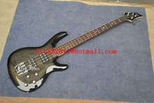 free shipping new Big John 4 strings electric bass guitar with sticking tiger stripes body  in gray  F-2036