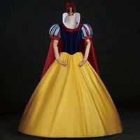 Snow White Costume Custom Made Adult Halloween Costumes Princess Snow White Cosplay Costume Headband Cloak Snow White Dress