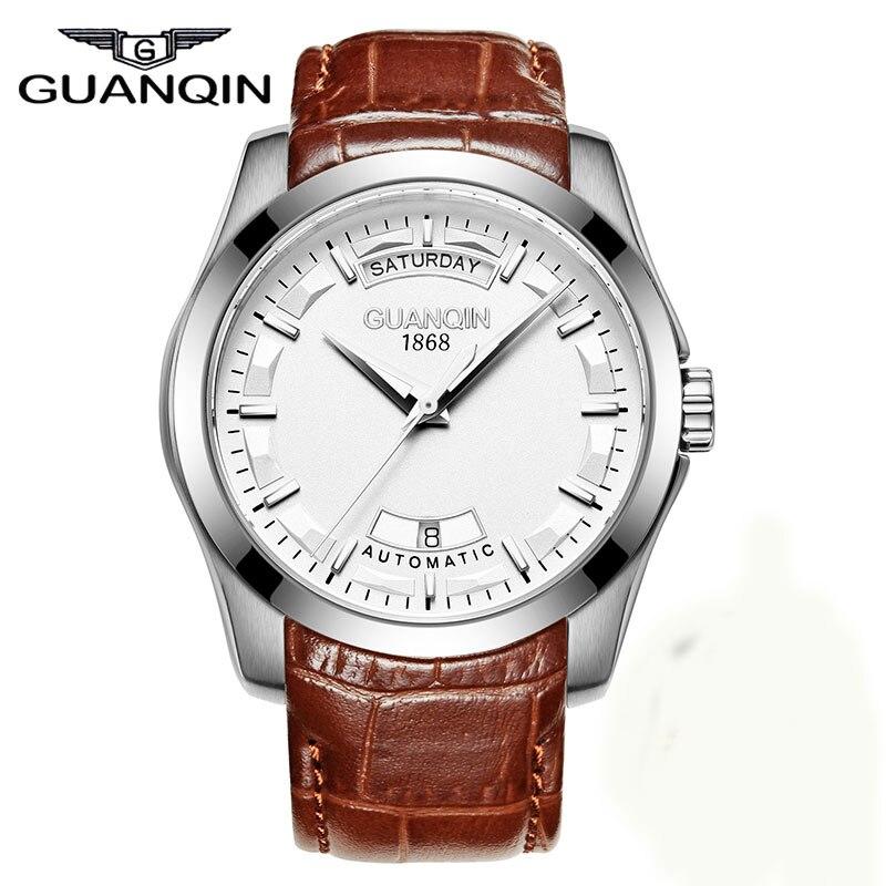GUANQIN GJ16027 2017 Brand font b Men s b font Fashion Casual Watch font b Quartz
