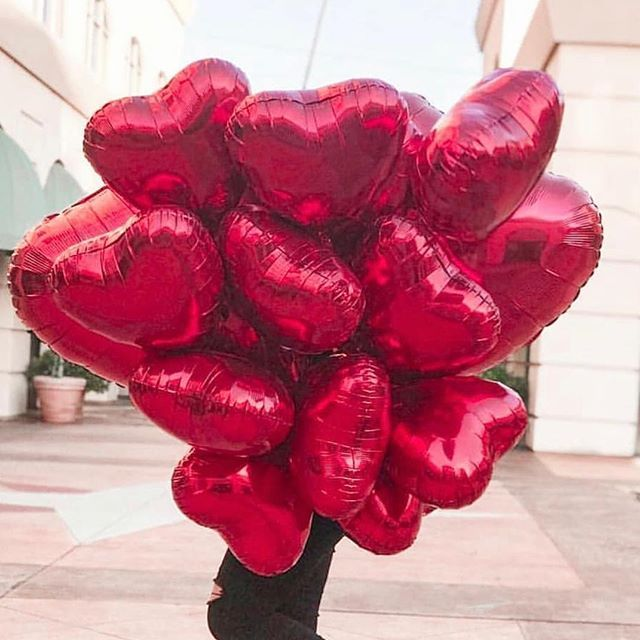 18inch Heart Balloons Rose Gold Red Foil Ballon Wedding Valentine Day Decorations Anniversary i love you globos helio love