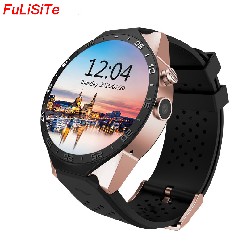 Kw88 android 5.1 os relógio inteligente eletrônica android 1.39 polegada smartwatch telefone suporte 3g wifi google gps wear dispositivo relógio masculino