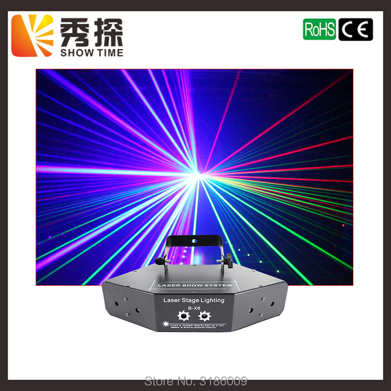 Free Shipping RGB Laser Lines Beam Scans DMX DJ Dance Bar Coffee Xmas Home Party Disco