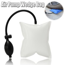 100g 15 X 16cm White Inflatable Air Pump Wedge Bag For Automotive Car Home Door Windows