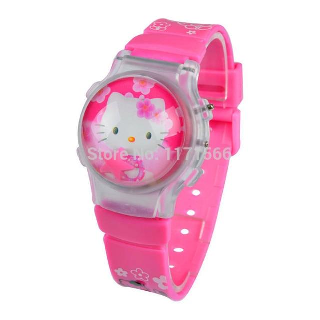 Hot Sale New Fashion hello kitty Children's cartoon watch Trend silicone wristwa