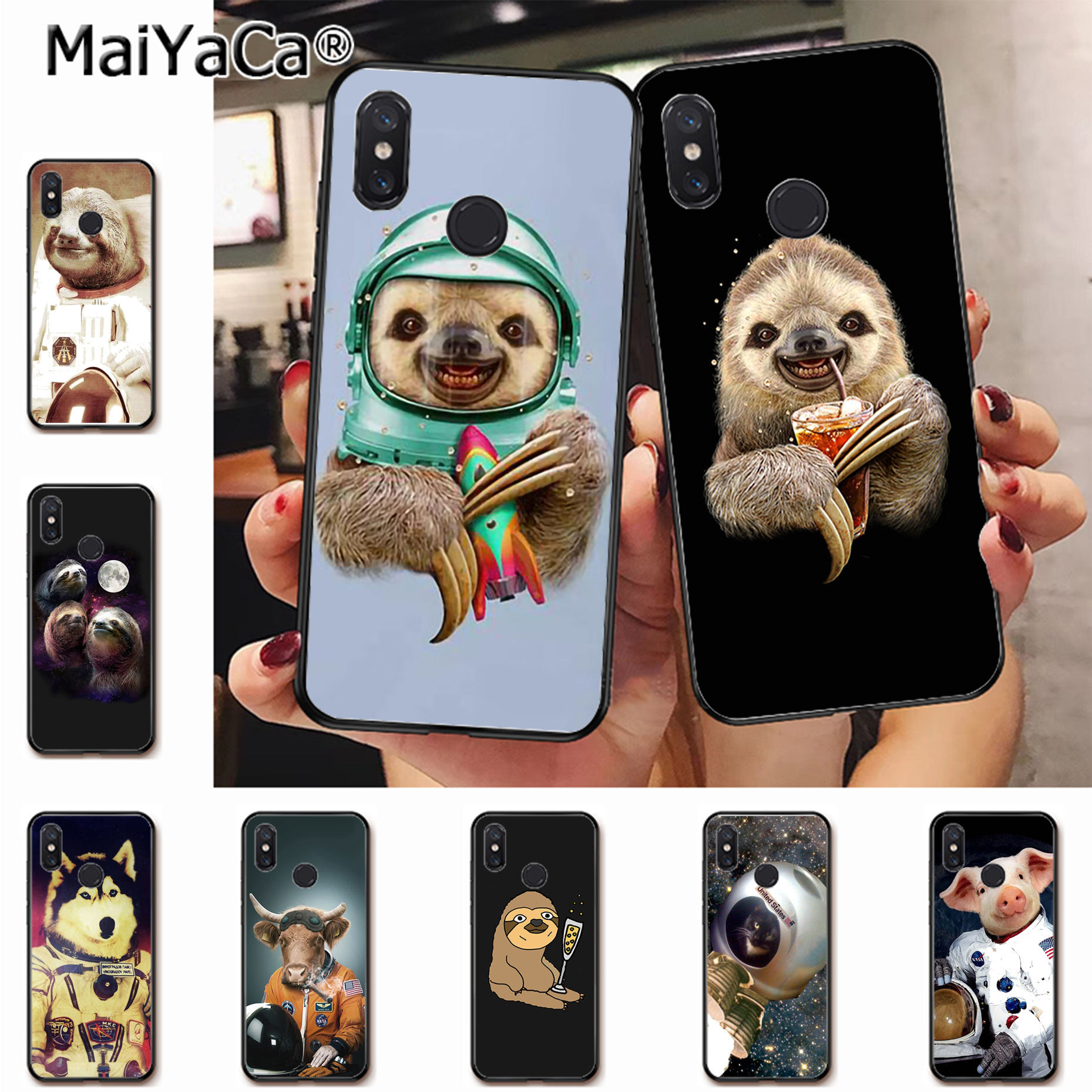 sloth astronaut phone case - HD 1859×1859