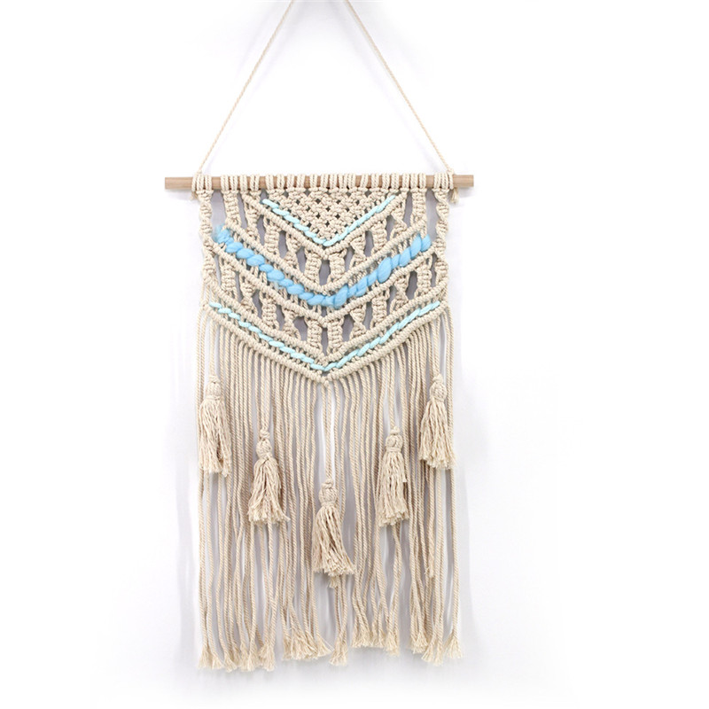 YRHCD Nordic Style Woven Hanging Tapestry Decor Handmade Cotton Macrame wall for Home decorative Home decorative Wall Hanging