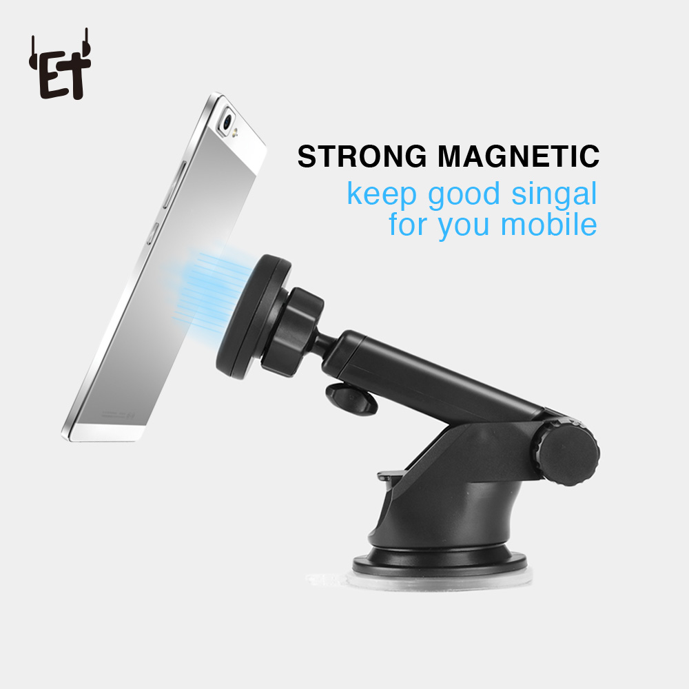 ET Soporte para coche para teléfono móvil 360 grados de rotación Tablero para coche Soporte para parabrisas Soporte para teléfono celular para iphone x 6 6s 7 8 Plus