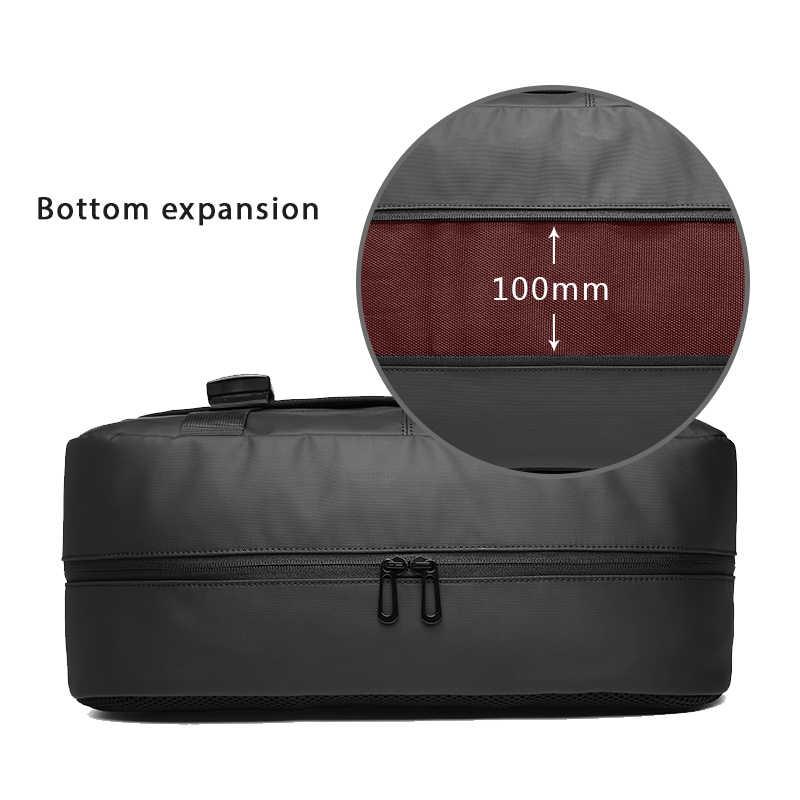 Bolsas de mensajero de gran capacidad EURCOOL Expansion para hombres 14,6 pulgadas bolso de hombro para ordenador portátil negro Casual Travel Chest bolsas para hombre n1805