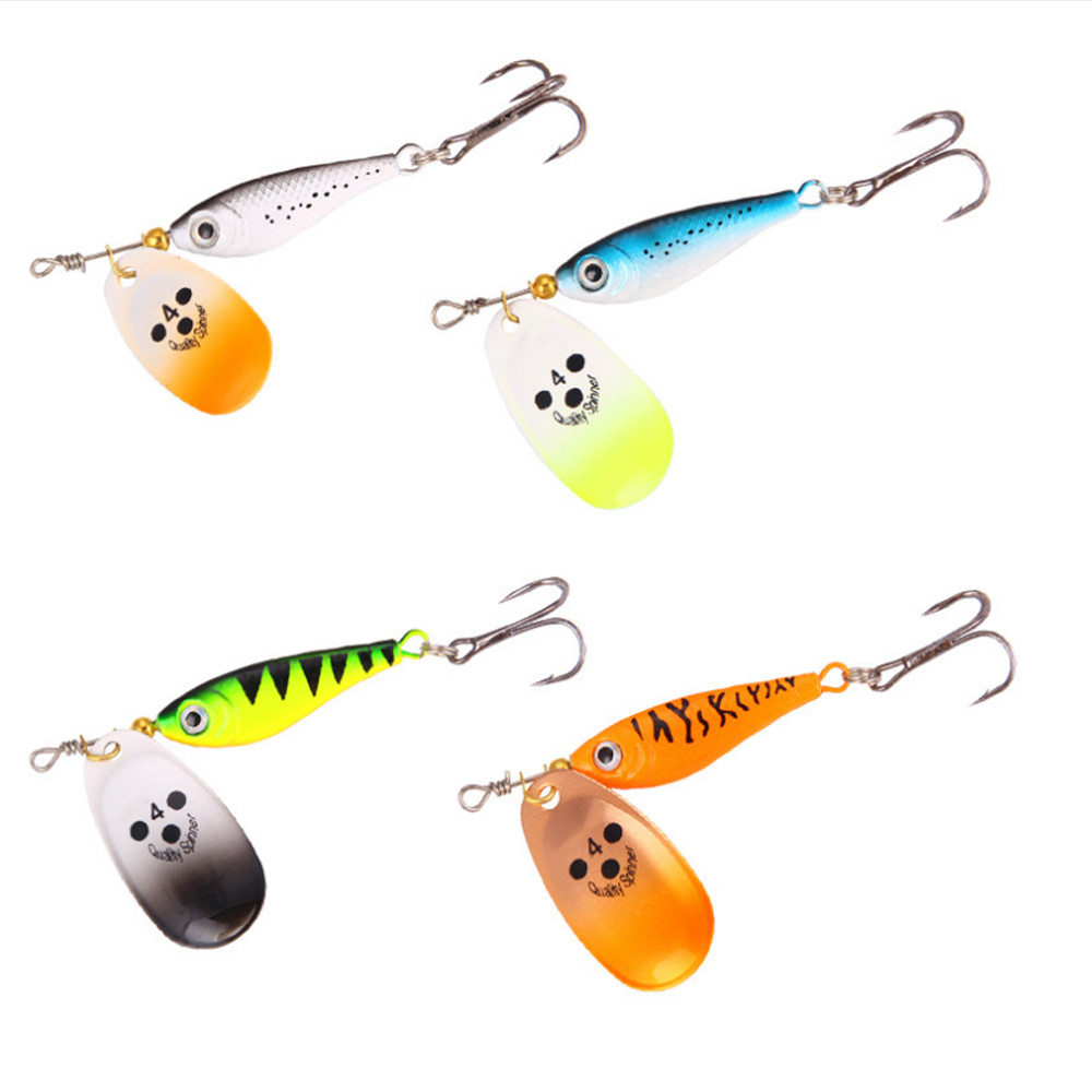 1PCS 11g/15g/20g Hooks Spinner Spoon Metal Rotating Fishing Lure Sequins Bait Wobblers Bass Trout Perch Pike Fishing Tackle afishlure quick sinking metal vib crankbait 12g 15g 20g treble hooks vibration lure fishing lure metal spoon sequins all water