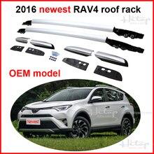 Para toyota nuevo rav4 2016 techo ferroviario baca de equipaje bar, oem modelo, nueva llegada, 100% de compatibilidad, supplied by iso9001 fábrica