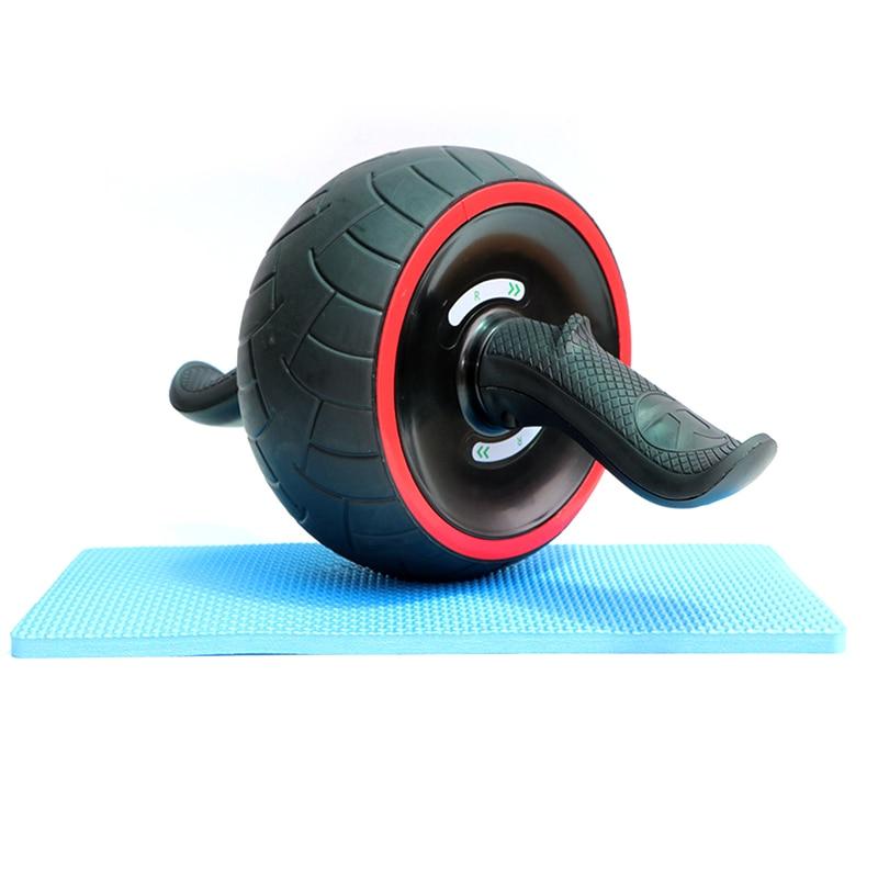 Caoutchouc garder les roues en forme roue abdominale Ab rouleau équipement de Fitness AB roue Musculation à domicile GYM exercice formateur avec Pad 30