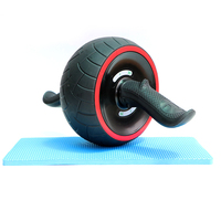 Rubber Keep Fit Wheels Abdominal Wheel Ab Roller Fitness Equipment AB Wheel Home Musculation GYM Exercise Trainer with Pad 30