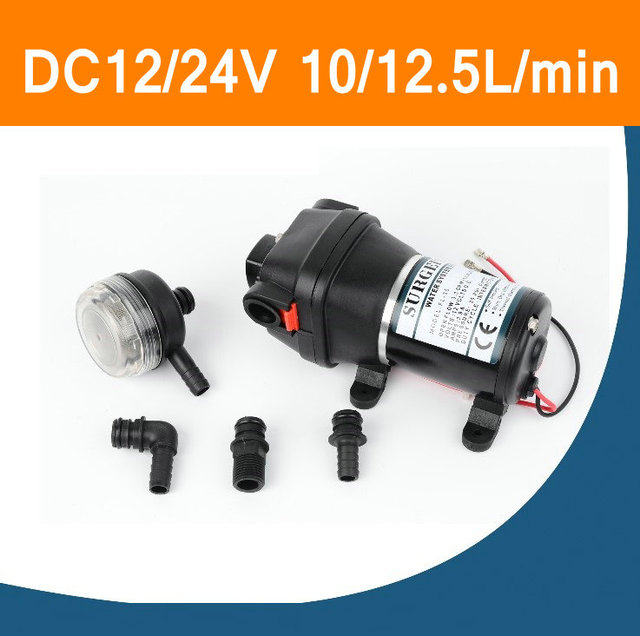 FL-30 FL-31 DC 12V 24V 12.5L/min 17psi Horizontal Water Pump Mini Diaphragm Pump Heavy Power For Marine RV Recreational Vehicle