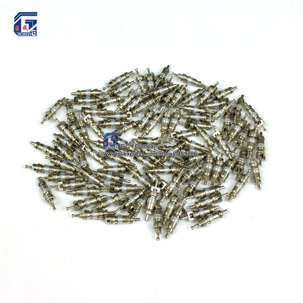 100pcs, Schrader Valve Core for Auto A/C Air Conditioning / Bike Bicycle Tire / HVAC Replacement