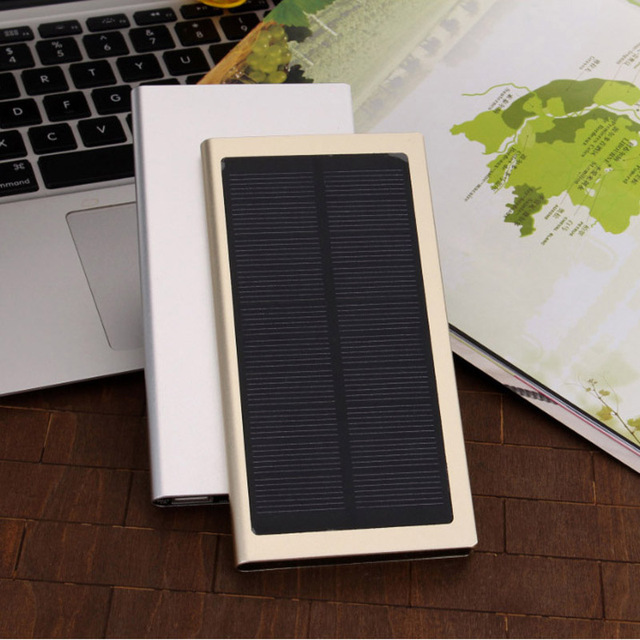 Doshin Новый Ультра-тонкий 12000 мАч Solar Power Bank Металлический Корпус Полимерный Аккумулятор Солнечное Зарядное Устройство Dual USB PowerBank для все телефон
