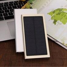 Doshin Nuevo ultra-delgada Caja de Metal Banco de la Energía Solar de la Batería de Polímero de 12000 mAh Cargador Solar Dual USB PowerBank para todos los teléfonos