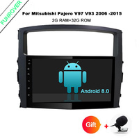 Funrover 9 Inch 2Din Car Multimedia Player For MITSUBISHI PAJERO V97 V93 2006 2015 Car Radio
