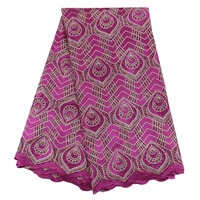 Fuchsia Tulle Embroidered Net Lace Trim African Laces Fabrics High Quality Nigerian French Net Lace2017 With